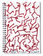 Stickmen Characters Nine Eleven Two K Ten Spiral Notebook