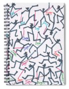 Stickmen Characters With Dogs Two Spiral Notebook