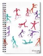 Stickmen October Two Thousand One Spiral Notebook