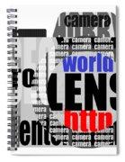 Still Camera From Words Spiral Notebook