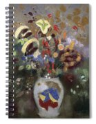 Still Life Of A Vase Of Flowers Spiral Notebook