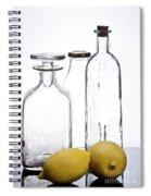 Still Life Of Bottles  And Lemons Spiral Notebook