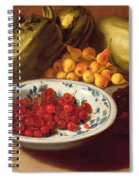 Still Life Of Cherries - Marrows And Pears Spiral Notebook
