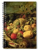 Still Life Of Fruits And Vegetables Spiral Notebook