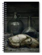 Still Life With Bear Skull Spiral Notebook
