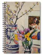 Still Life With Flowers In A Vase   Spiral Notebook