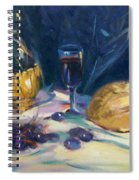 Still Life With Grapes Spiral Notebook