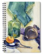 Still Life With Green Bottle Spiral Notebook