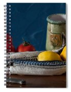 Still Life With Mackerels Lemons And Tomatoes Spiral Notebook