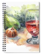 Still Life With Red Wine Glass Spiral Notebook