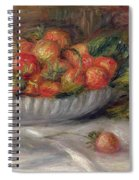 Still Life With Strawberries Spiral Notebook