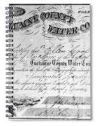 Stock Certificate, 1853 Spiral Notebook