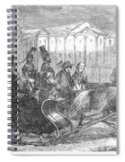 Stockholm: Sleighing, 1850 Spiral Notebook