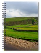 Stone Barn In A Fold Of The Landscape Spiral Notebook