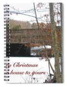 Stone Bridge Christmas Card - Our House To Yours Spiral Notebook