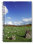 Stone Circles On A Landscape, Beaghmore Spiral Notebook