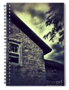 Stone House In Storm Spiral Notebook