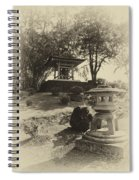 Stone Lantern And Temple Bell Spiral Notebook