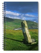 Stone On A Landscape, Ogham Stone Spiral Notebook