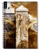 Stone Sight - Two Arches And A Column Draws A Disturbing Almost Human Face Spiral Notebook