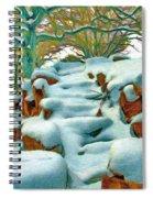 Stone Steps In Winter Spiral Notebook