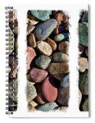 Stone Triptych 3 Spiral Notebook