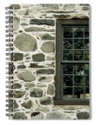 Stone Wall With A Window Spiral Notebook