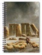 Stonehenge In Winter  Spiral Notebook