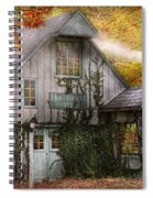 Store - Hollyhocks And Ivy  Spiral Notebook