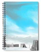 Storm Approachs Strange City Spiral Notebook