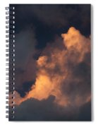 Storm Cloud Highlighted By Sun Spiral Notebook