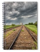 Storm Clouds Over Grain Elevator Spiral Notebook