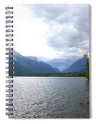 Storm Clouds Over Lake Mcdonald Spiral Notebook