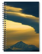 Storm Over Shasta Spiral Notebook