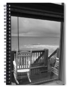 Storm-rocked Beach Chairs Spiral Notebook