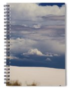 Storm's Contrast With White Sand Spiral Notebook
