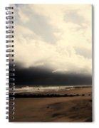 Stormy Beach At The Coast Of South Carolina Spiral Notebook