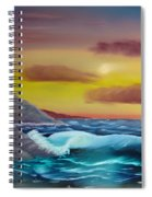 Stormy Beach Spiral Notebook