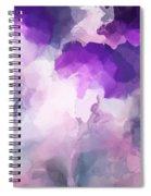 Stormy Purple Spiral Notebook