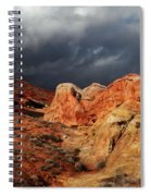 Stormy Skies Over Valley Of Fire Spiral Notebook