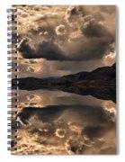 Strange Clouds Reflected Spiral Notebook