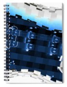 Abstract Guitar In Blue Spiral Notebook