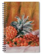 Strawberries And Pineapple Spiral Notebook