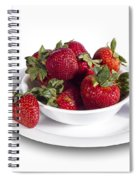 Strawberries In A White Bowl No.0029v1 Spiral Notebook