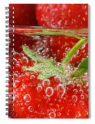 Strawberries In Water Close Up Spiral Notebook