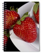 Strawberry Arrangement With A White Bowl No.0036 Spiral Notebook
