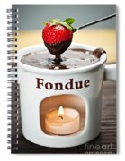 Strawberry Dipped In Chocolate Fondue Spiral Notebook
