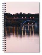Strawberry Mansion Bridge At Dusk Spiral Notebook