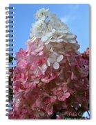 Strawberry Vanilla Hydrangea Spiral Notebook