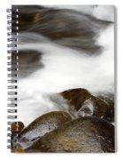 Stream Flowing Over Rocks Spiral Notebook